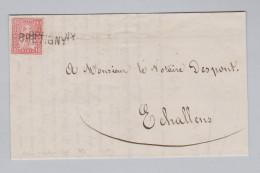Heimat Schweiz VD BRETIGNY Langstempel Brief Nach Echallens Mit 10Rp Sitzende Helvetia - 1862-1881 Helvetia Assise (dentelés)