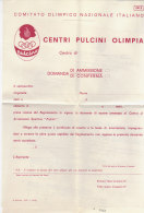 PO5827D# COMITATO OLIMPICO NAZ.ITALIANO - CENTRI PULCINI OLIMPIA TORINO 1968 - DOMANDA AMMISSIONE/ OLIMPIADI - Giochi Olimpici