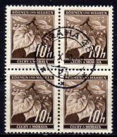 BÖHMEN & MÄHREN 1939 - MiNr: 21 4er Used - Böhmen Und Mähren