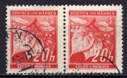 BÖHMEN & MÄHREN 1939 - MiNr: 22 Paar Used - Böhmen Und Mähren