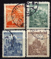 BÖHMEN & MÄHREN 1940 - MiNr: 38-41 Komplett  Used - Böhmen Und Mähren