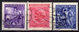 BÖHMEN & MÄHREN 1943 - MiNr: 128-130  Used - Böhmen Und Mähren