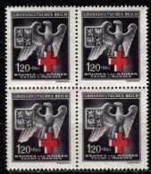 BÖHMEN & MÄHREN 1943 - MiNr: 132 4er  ** / MNH - Böhmen Und Mähren
