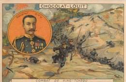 CHROMOS : CHOCOLAT LOUIT . GUERRE RUSSO JAPONAISE . COMBAT DE KING TCHEOU . 11 JUIN 1904 . - Louit