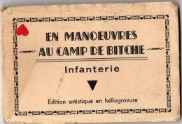 39633-ZE-57-EN MANOEUVRE AU CAMP DE BITCHE-Infanterie-------album Dépliant De 11 Vues Brunes - Bitche