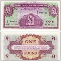 GRAN BRETAGNA 1962 - British Armed Forces 1 Pound 4th Series  FDS - Forze Armate Britanniche & Docuementi Speciali