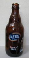 AC- EFES PILSEN BEER SPECIAL EDITION FOR LEMAN KULTUR EMPTY GLASS BOTLLE - Cerveza