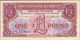GRAN BRETAGNA 1962 - British Armed Forces 1 Pound 3th Series  FDS - Forze Armate Britanniche & Docuementi Speciali