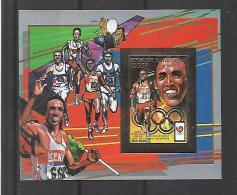 Centrafrique BF Timbre Or Gold Sprint Non Dentelé/imperf/B JO 88 ** - Zomer 1988: Seoel