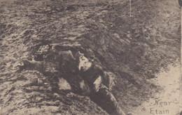 RP: War 1914-18 ; Trench Scene, Dead Soldier , Near ETAIN - Guerre 1914-18