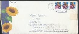 USA Airmail 1996 Flag Definitive 32c Postal History Cover Sent To Pakistan - Brieven En Documenten