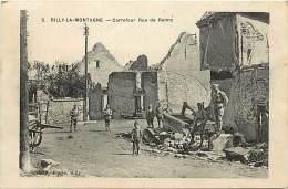 - Depts Div.-ref-HH986- Marne - Rilly La Montagne - Carrefour Rue De Reims - Guerre 1914-18 - Militaires - Militaria - - Rilly-la-Montagne