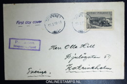 Finland  Airmail Cover 1946 FDC Mi Nr 329 - FDC