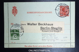 Denmark  Kartebrief Mi K 47 Uprated  Fa 95 To Berlin - Interi Postali
