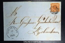 Denmark  Part Letter 1858 Roeskilde (nr 58) To Copenhagen Fa Nr 4 - Lettres & Documents