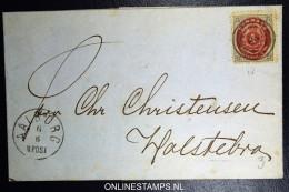 Denmark  Letter  Aalborg To Holstebro Fa Nr 22 - 1864-04 (Christian IX)
