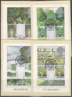 Great Britain 1983 British Gardens 4v Gutter  4 Maxicards  (31173) - Maximumkaarten
