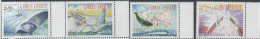 CAPE VERDE, 2007,MNH, WHALES, WHALING, SHIPS, PART II, 4v, VERY SCARCE - Baleines