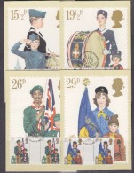 Great Britain 1982 Youth Organisations 4v Gutter 4 Maxicards (31174) - Maximumkaarten