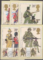 Great Britain 1983 British Army 5v  Gutter 5 Maxicards  (31176) - Maximumkaarten