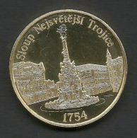 Czech Republic, Olomouc, Trinity Column, Souvenir Jeton, Yellow - Tokens & Medals
