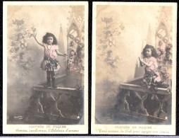 2 X SUPERBE PHOTO MONTAGE SURREALISME - ENFANT AVEC ANGES - Angels - Cherubin - Szenen & Landschaften