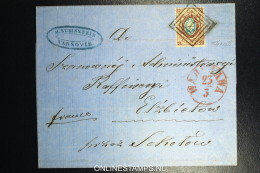 Russian Stamp Mi 5 ( 12,50 * 12.50) Used In Poland, From  Boxcancel 1, Warschau On Cover  RR