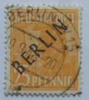 GERMANY 1948 BERLIN 25PF MICHEL 10 - Oblitérés