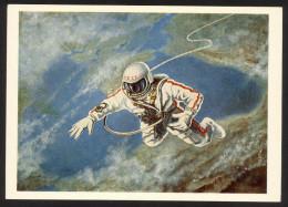 USSR 1970 Space, Leonov, Cosmonaut. Art, Painter, Artist - 1923-1991 URSS