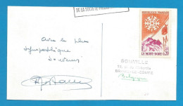 (A248) Signature / Dédicace / Autographe Original De Hubert Rostaing, Clarinettiste, Saxophoniste, Jazz - Autographes