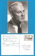 (A249) Signature / Dédicace / Autographe Original De Raymond Rouleau, Acteur, Réalisateur + Carte Photo - Autographes