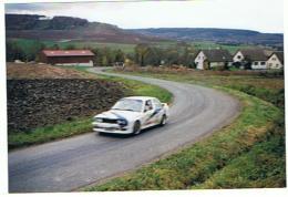 MARNE LOT DE 5 PHOTOS RALLYE DES VENDANGES 1994 DERAPAGE AVEC SORTIE DE ROUTE - Photos