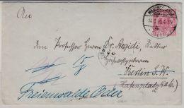 DR - 10 Pfg. K/A GA-Umschlag, Heringsdorf - Berlin - Freienwalde 1890 - Entiers Postaux