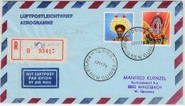 Papua New Guinea - Yomba 1979, Einschreibe-Aerogramme N. Deutschland - Papouasie-Nouvelle-Guinée