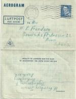 Aerogram  Vordingborg - Bern                 1949 - Postwaardestukken