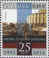 Lietuva Litauen 2016 MNH ** Mi. Nr.  1210  25th Anniversary Of Tragic Events Of 13th January