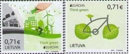 Lietuva Litauen 2016 MNH ** Mi. Nr.  1217-1218 Europe Stamps 2016 Think Green - Lithuania