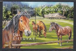 Lietuva Litauen 2016 MNH ** Mi. Nr.  1220 Bl.51 Horses - Litauen