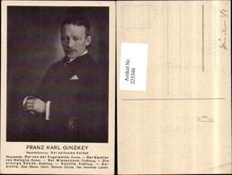 225340,Schriftsteller Dichter Franz Karl Ginzkey Portrait - Künstler