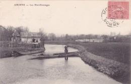 CPA 80 @ AMIENS @ Les Hortillonnages En 1905 - Barque Typique @ Cachet De Montdidier - Amiens