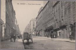 CPA F66 BREST - Rue Jean Jaurès- Attelage- Marins - Pub Billard- Animée - Brest