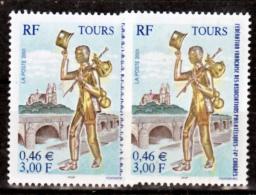 France 3397 Statuette Variété Impression Décalée Vers Le Bas Itvf  Et Signature Au Ras Du Bleu Et Norma Neuf ** TB MNH - Variedades: 2000-09 Nuevos