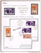 Fusée Diamant Satellite A1 Premier Jour Et R; Niamey Niger 1966 + Timbres ** - Télécom