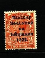 IRELAND/EIRE - 1922 2d.  (Die II) OVERPRINTED THOM BROKEN RIALTAR MINT SG 13 - 1922 Governo Provvisorio