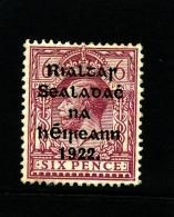 IRELAND/EIRE - 1922 6d. OVERPRINTED THOM  MINT SG 14 - 1922 Governo Provvisorio