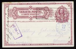 A4061) Costa Rica Postcard From Cartago 02/13/1908 To Hamburg / Germany - Costa Rica