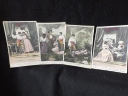 """Série  COMPLETE """"  Paul Et Virginie """" 10 Cartes Photo . Avant 1904. Voir 4 Scans. - Ohne Zuordnung"""