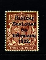 IRELAND/EIRE - 1922 1 1/2 D. OVERPRINTED THOM  MINT SG 32 - 1922 Governo Provvisorio