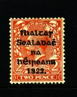 IRELAND/EIRE - 1922 2d. (Die I) OVERPRINTED THOM  MINT SG 33 - 1922 Governo Provvisorio