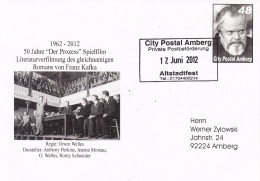 ALLEMAGNe--Cachet Poste Privée-city Postal Amberg-12/6/2012- Avec TP Orson Welles - Cinema